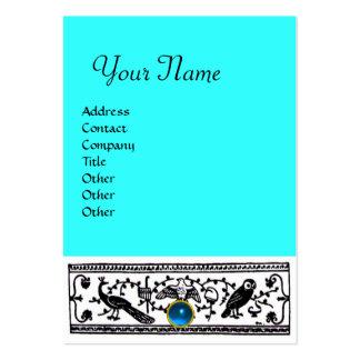 ANTIQUE DECOR, SAPPHIRE  MONOGRAM ,blue Large Business Card