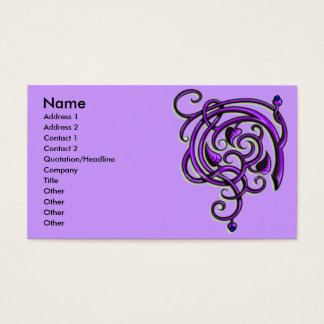 Antique Decorative Flourishes Business Card
