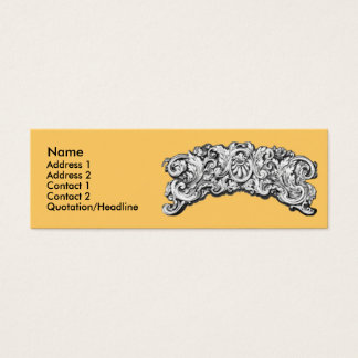 Antique Decorative Flourishes Mini Business Card
