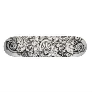 Antique Decorative Flourishes Skateboard