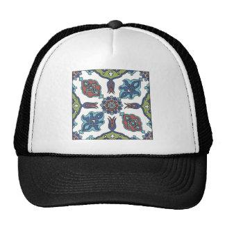 Antique Decorative Flower Floral Design Hat