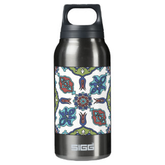 Antique Decorative Flower Floral Design Insulated Water Bottle