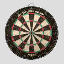 Antique Distressed Dartboard with Custom Text