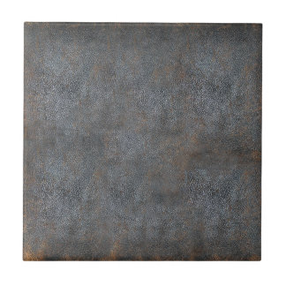 Antique Distressed Leather Book Tile