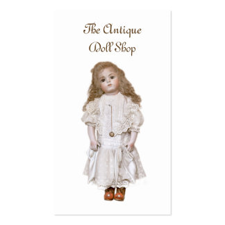 Antique doll business card