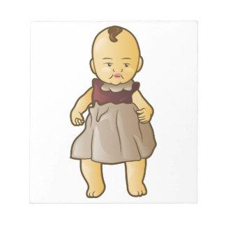 Antique Doll Memo Note Pad