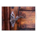 Antique Doorhandle Old Doorway Blank Notecards Greeting Card