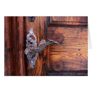 Antique Doorhandle Old Doorway Blank Notecards Stationery Note Card