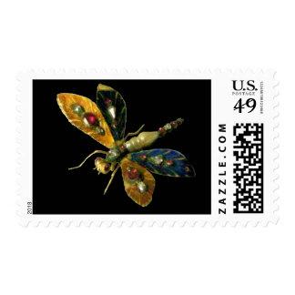 ANTIQUE DRAGONFLY JEWEL  black Stamps