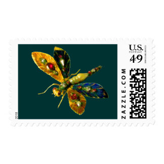 ANTIQUE DRAGONFLY JEWEL  green Postage
