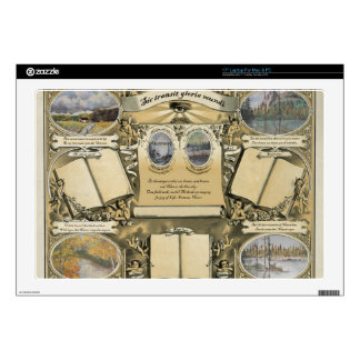 Antique Drawing Certificate Decals For Laptops