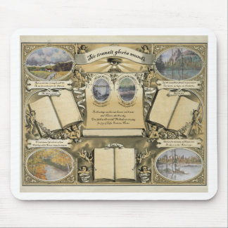 Antique Drawing Certificate Mouse Pad