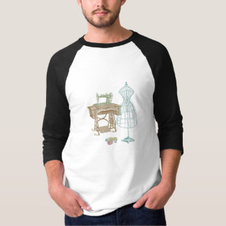 Antique Dressmaker Kit Illustration T-Shirt