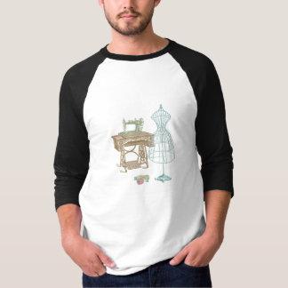 Antique Dressmaker Kit Illustration Tee Shirts