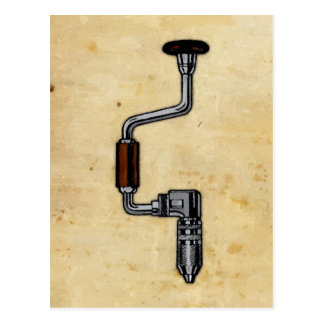 Antique Drill Painting Postcard