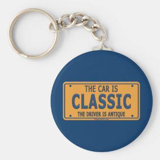 Antique Driver Classic Car Keychain