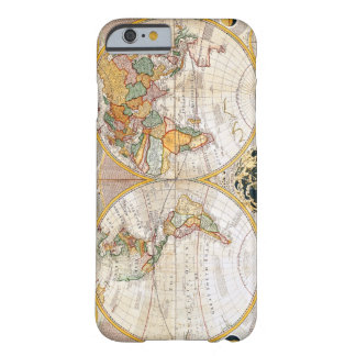 Antique Dual Hemisphere World Map Barely There iPhone 6 Case