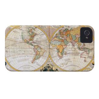 Antique Dual Hemisphere World Map iPhone 4 Covers