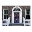 Antique Dublin doorway postcard, Merrion square Postcard