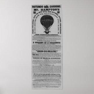 Antique Dublin Rotunda Baloon ascent Posters