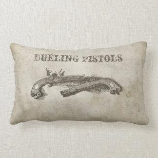 Antique Dueling Pistols Lumbar Throw Pillow.