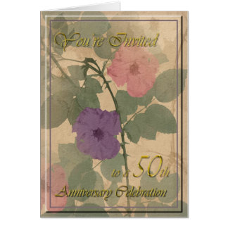 Antique Dusty Rose 50th Anniversary Cards