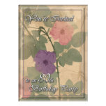 Antique Dusty Rose 80 Birthday Announcements