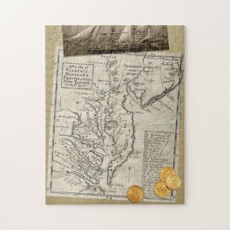 Antique East Coast Map puzzle