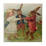 Antique Easter Play Ring Around Rosy Tiles