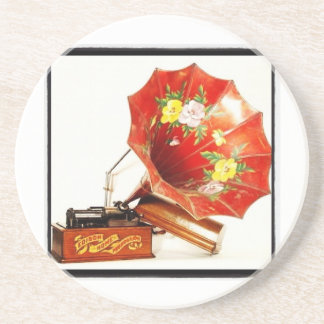 Antique Edison Home Phonograph Novelty Gifts Drink Coaster