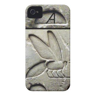 ANTIQUE EGYPTIAN HONEY BEE BEEKEEPER MONOGRAM iPhone 4 Case-Mate CASES