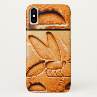 ANTIQUE EGYPTIAN HONEY BEE BEEKEEPER Orange Yellow iPhone X Case