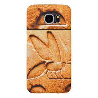 ANTIQUE EGYPTIAN HONEY BEE BEEKEEPER Orange Yellow Samsung Galaxy S6 Case