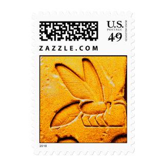 ANTIQUE EGYPTIAN HONEY BEE BEEKEEPER POSTAGE STAMP