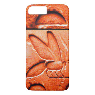 ANTIQUE EGYPTIAN HONEY BEE BEEKEEPER Red iPhone 8 Plus/7 Plus Case