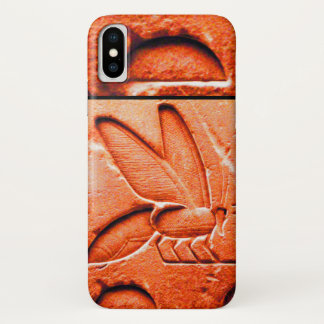 ANTIQUE EGYPTIAN HONEY BEE BEEKEEPER Red iPhone X Case
