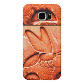 ANTIQUE EGYPTIAN HONEY BEE BEEKEEPER Red Samsung Galaxy S6 Case