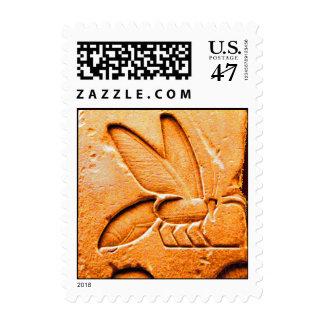 ANTIQUE EGYPTIAN HONEY BEE BEEKEEPER STAMP
