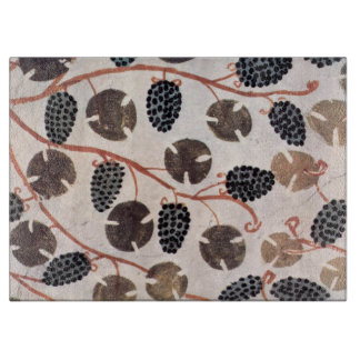 ANTIQUE EGYPTIAN VINEYARD GRAPES AND GRAPE VINES CUTTING BOARD