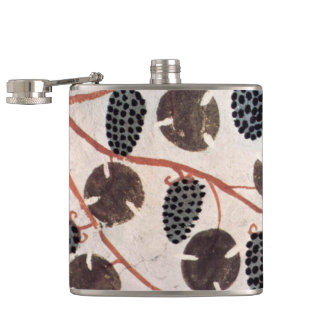 ANTIQUE EGYPTIAN VINEYARD GRAPES AND GRAPE VINES HIP FLASK
