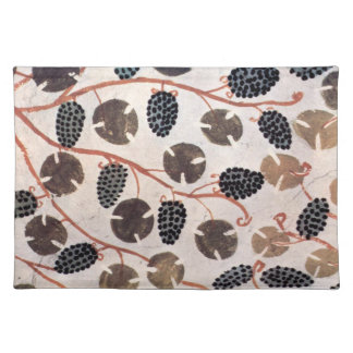 ANTIQUE EGYPTIAN VINEYARD GRAPES AND GRAPE VINES PLACE MATS