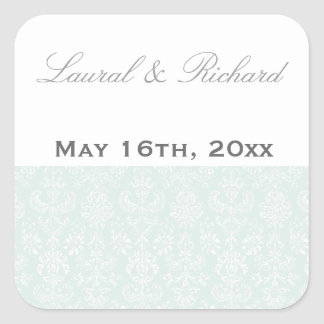 Antique Embroidered Damask Wedding Stickers