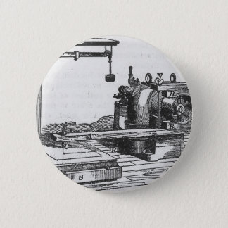 Antique Engineering Tool Vintage Ephemera Pinback Button