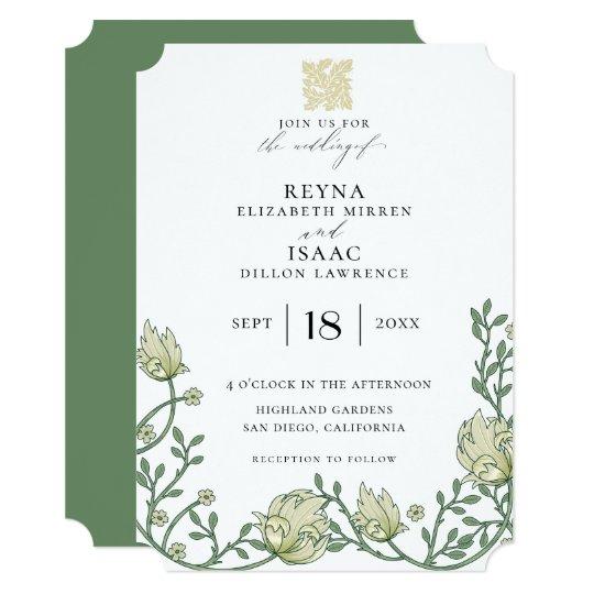 Antique English Ivy Wedding Invitation