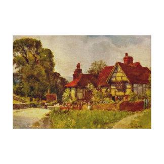 Antique English Landscape Glynde Sussex Canvas Gallery Wrap Canvas