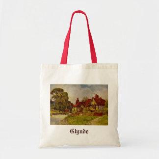 Antique English Landscape Glynde Village Sussex Canvas Bags