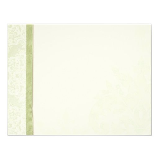Antique English Rose - Green Thank You Note Cards Custom Invites