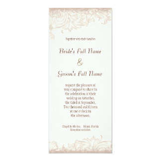 "Antique English Rose - Lavender Wedding Invitation 4"" X 9.25"" Invitation Card"