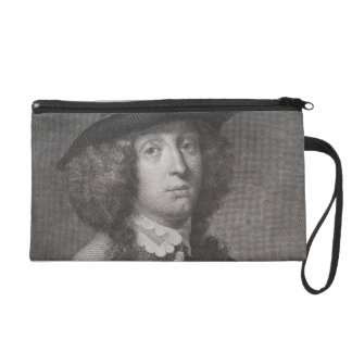 Antique Engraving of a Man with a Beautiful Face Wristlet