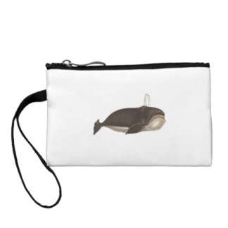 Antique Engraving of a Whale Coin Purse